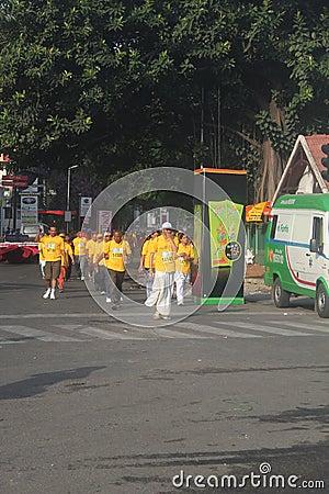 Seniors run in world 10k bangalore marathon Editorial Photography
