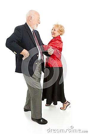 Free Seniors Square Dancing Royalty Free Stock Photo - 8027255