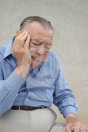 Seniors. Worried elderly man