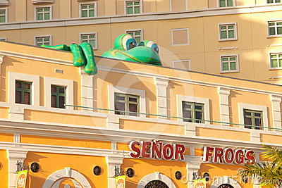 Senor Frog s Bar and Grill in Old San Juan Editorial Photography