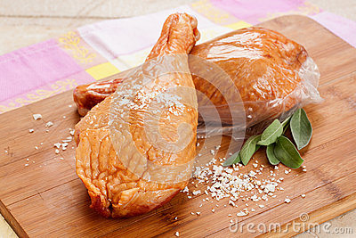 Sensational smoked leg of chicken
