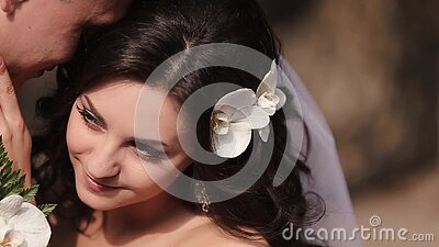 sensitive close up shot hugging newlywed couple beautiful charming bride natural make up curly hair decorated 112304460 - The right way to Date a Thai Woman