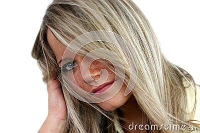 Sensitive woman