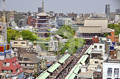 Senso-ji Temple in Asakusa, Tokyo, Japan Editorial Stock Image