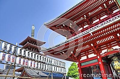 Senso-ji Temple in Asakusa, Tokyo, Japan Editorial Image