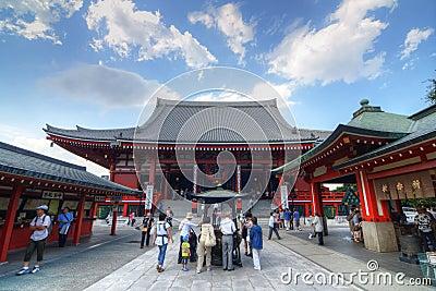 Senso-ji Temple in Tokyo Editorial Photography