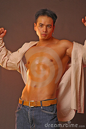 Sensual asian male