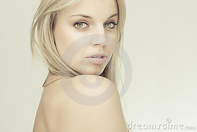 Sensual beautiful blond girl