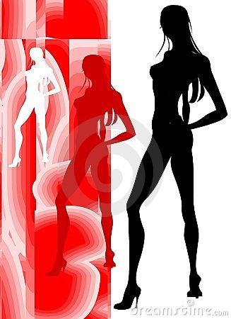 Free Sensual Beauty Silhouette Royalty Free Stock Images - 808379
