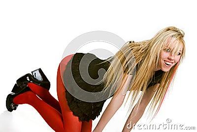 Sensual blond wiyh long hair