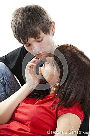 Sensual dialogue enamoured couple