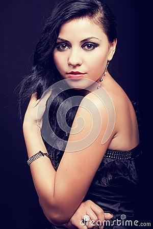 Sensual elegant young feminine woman