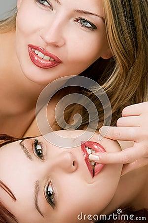 Sensual female lovers