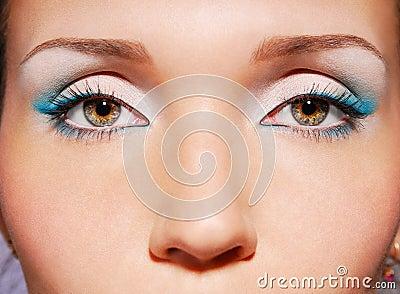 The sensual green eyes