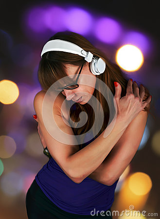 Free Sensual Woman Lost In Listening To Music Hugging Herselff Royalty Free Stock Photo - 53132195