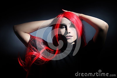 Sensual woman with red hair