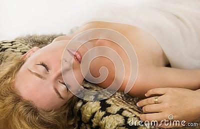 Sensuality blonde woman