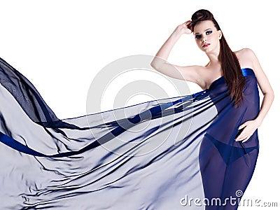 Sensuality woman in chiffon