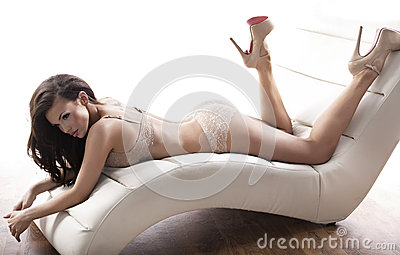 Sensuele dame die sexy lingerie dragen