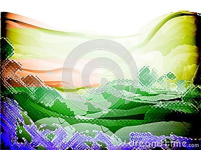 Sentido de la imagen de fondo de cristal del color