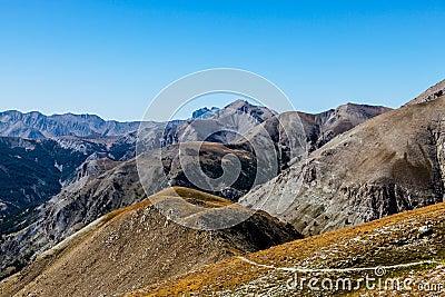 Sentier piéton à l haute altitude