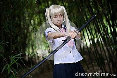 Sentimental samurai girl