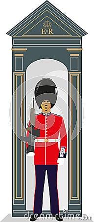 Free Sentry Box Guardsman Stock Images - 55031334