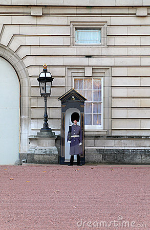 Sentry of the Grenadier Guards in winter uniform Editorial Photography