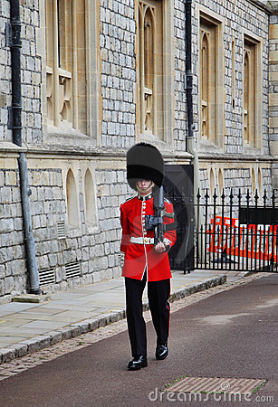 Sentry at Royal Windsor Castle Editorial Photography