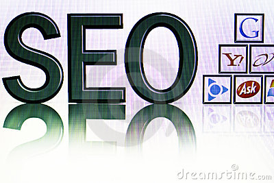 SEO Editorial Stock Image