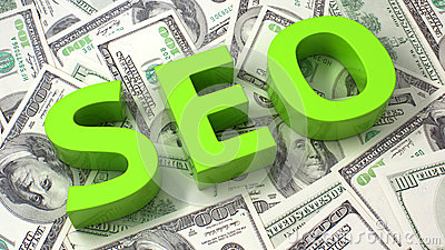 SEO on the dollar background