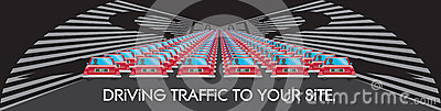 SEO Driving Traffic to Your Website Illustration