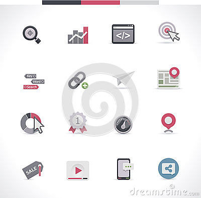 SEO icon set. Part 1