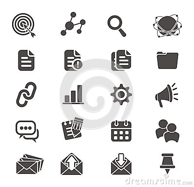 Free SEO Icon Sets Stock Images - 36358754