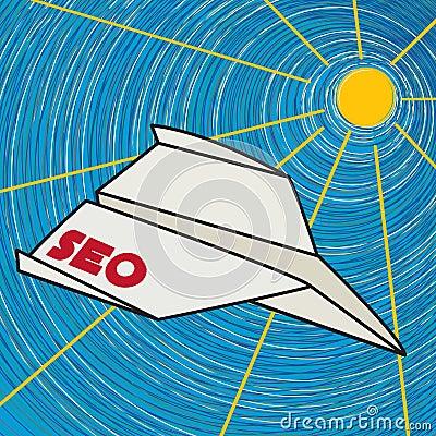 Seo paper plane clip art