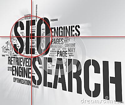 Seo Target word collage