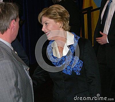 Señora Laura Bush Fotografía editorial