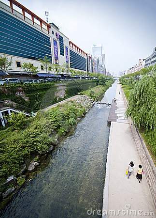 Seoul - artificial river Editorial Image