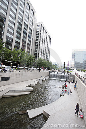 Seoul - artificial river Editorial Stock Image