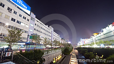 Seoul - artificial river Editorial Photography