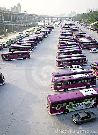 Seoul buses Editorial Photo