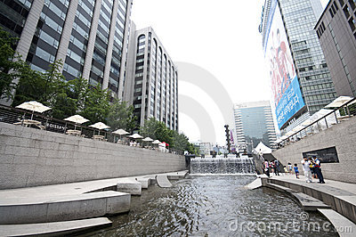 Seoul - Cheonggyecheo artificial river Editorial Image