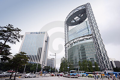 Seoul - Jongno Tower Editorial Photo