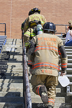 SEP 11, 2011 - Firefighter Memorial Stair Climb Editorial Photo