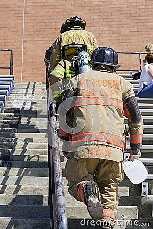 SEP 11, 2011 - Firefighter Memorial Stair Climb Editorial Photo