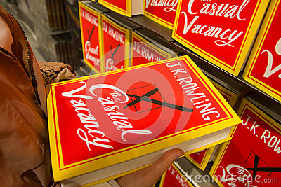 Sep 27:  J.K. Rowling s The Casual Vacancy Editorial Stock Image