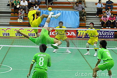 Sepak Takraw : Chonburigame Thailand Royalty Free Stock Photos - Image: 17594398