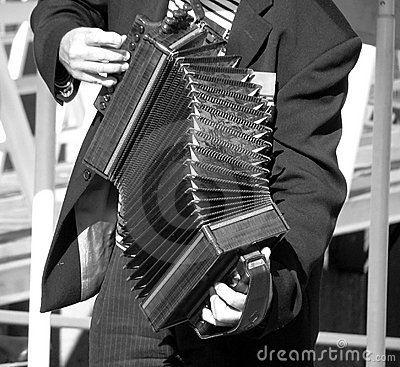 Sepia Accordian Player