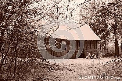 Sepia-altes Haus