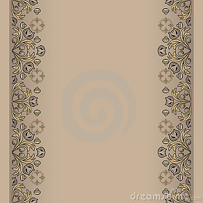 Sepia backdrop with floral elements